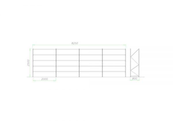 Midi Rack Regał półkowy zestaw D2