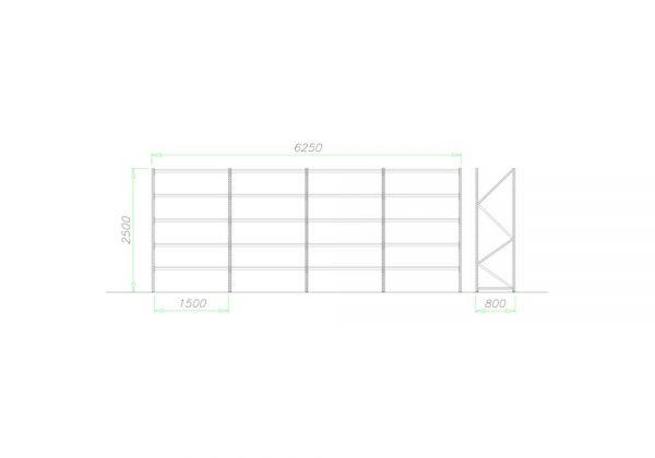 Midi Rack Regał półkowy zestaw D3