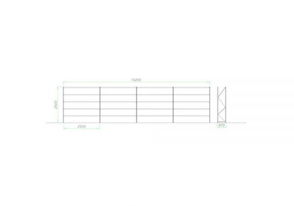 Midi Rack Regał półkowy zestaw D4