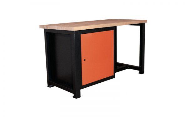 Stół warsztatowy – ślusarski z zamykaną szafką P-1410