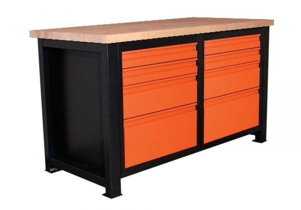 Stół warsztatowy narzędziowy z 4 zamykanymi szufladami