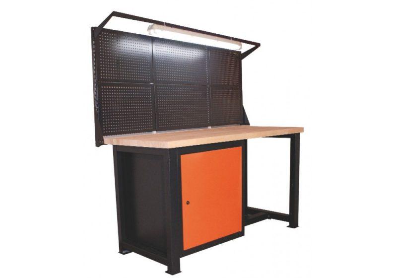 Stół warsztatowy z nadstawką i lampą p1418
