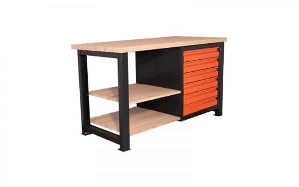 Stół warsztatowy z 6 zamykanymi szufladami P-1412