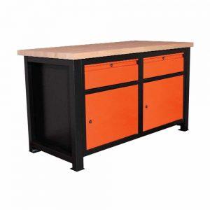 Stół warsztatowy z dwiema zamykanymi szufladami P-1416