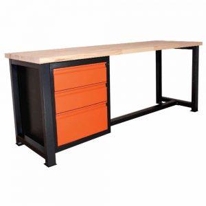 stół warsztatowy z szufladami p2111
