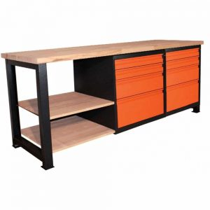 Stół warsztatowy z szufladami solidnej konstrukcji P-2114