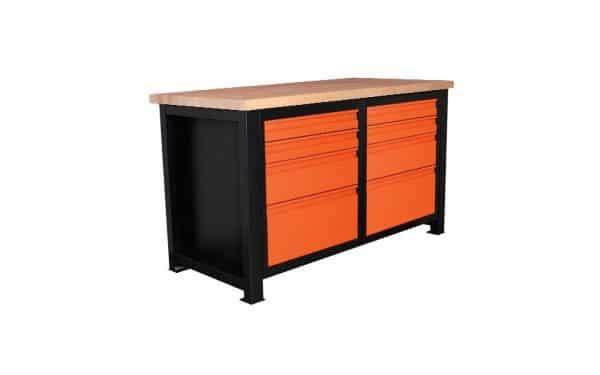 Stół warsztatowy narzędziowy z zamykanymi szufladami P-1417