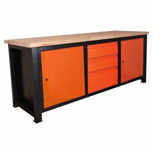 Stół warsztatowy z zamykanymi szufladami P-2116
