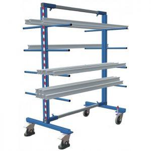 Wózek platformowy wspornikowy do długich elementów