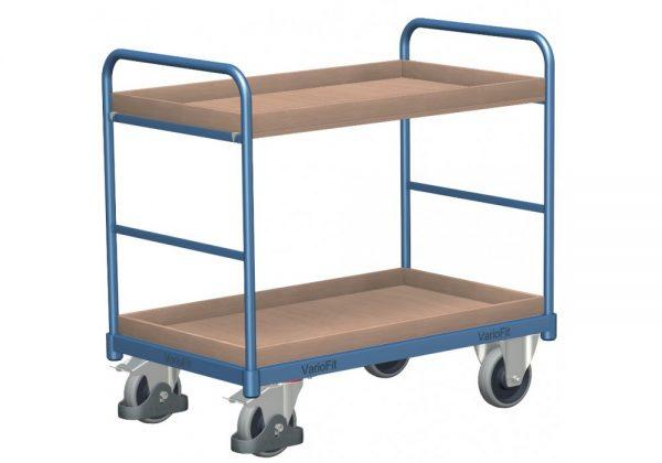 Wózek platformowy dwa poziomy składowania