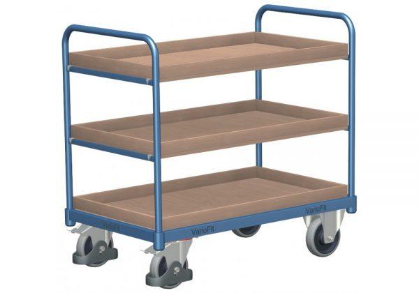 Wózek platformowy trzy poziomy składowania