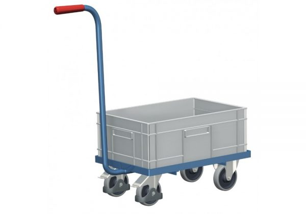 Wózek platformowy z pojemnikiem