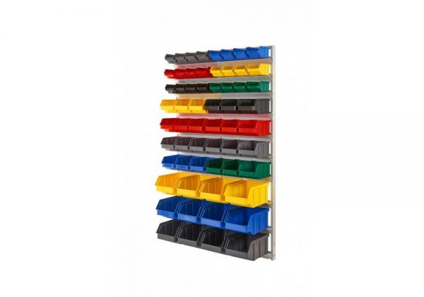 Regał na plastikowe pojemniki jednostronny R1 03430