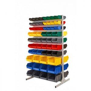 Regał na plastikowe pojemniki dwustronny R2 03430