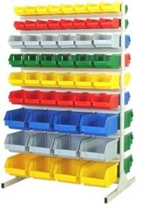 regał stojak do pojemników plastikowych