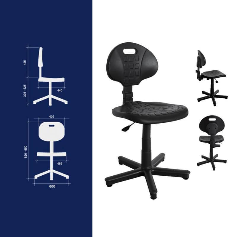 krzesło warsztatowe wymiary